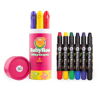 Κηρομπογιές soft Baby Roo σετ 6 χρωμ. Washable JarMelo