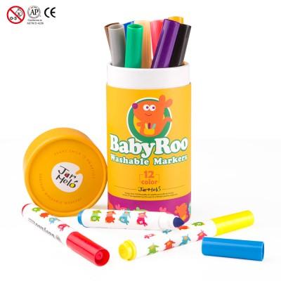 Μαρκαδόροι Baby Roo σετ 12 χρωμ. Washable JarMelo